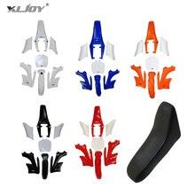 XLJOY Plastic Fender Fairing Kits 7 Pieces + Foam Seat For Chinese 2 Stroke 47cc 49cc Apollo Orion Mini Dirt Bike Kids Minimoto