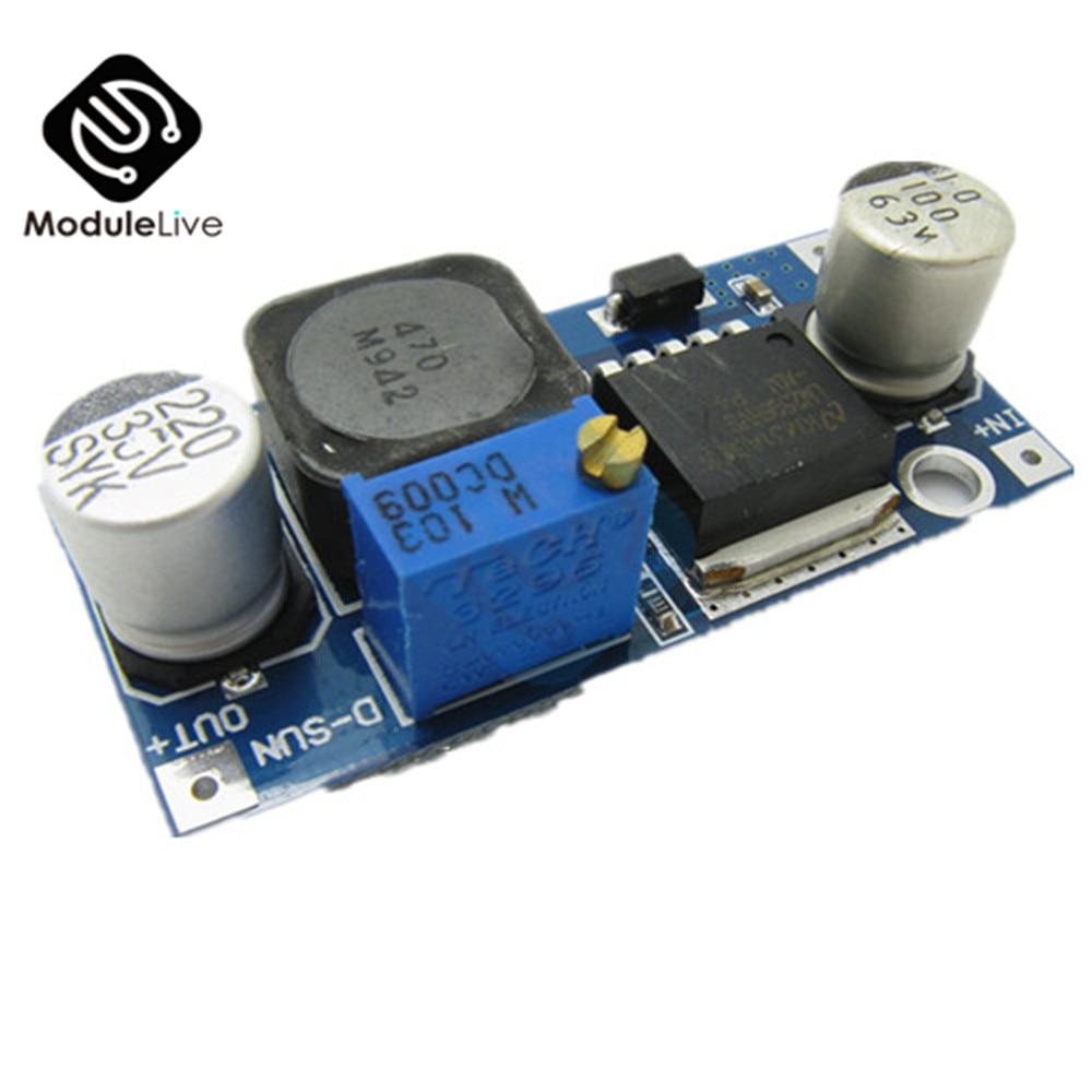 DC-DC ajustable convertidor Buck de reducción LM2596HVS LM2596 HV LM2596HV módulo de potencia 4,5-50V a 3-35V limitador de Urrent