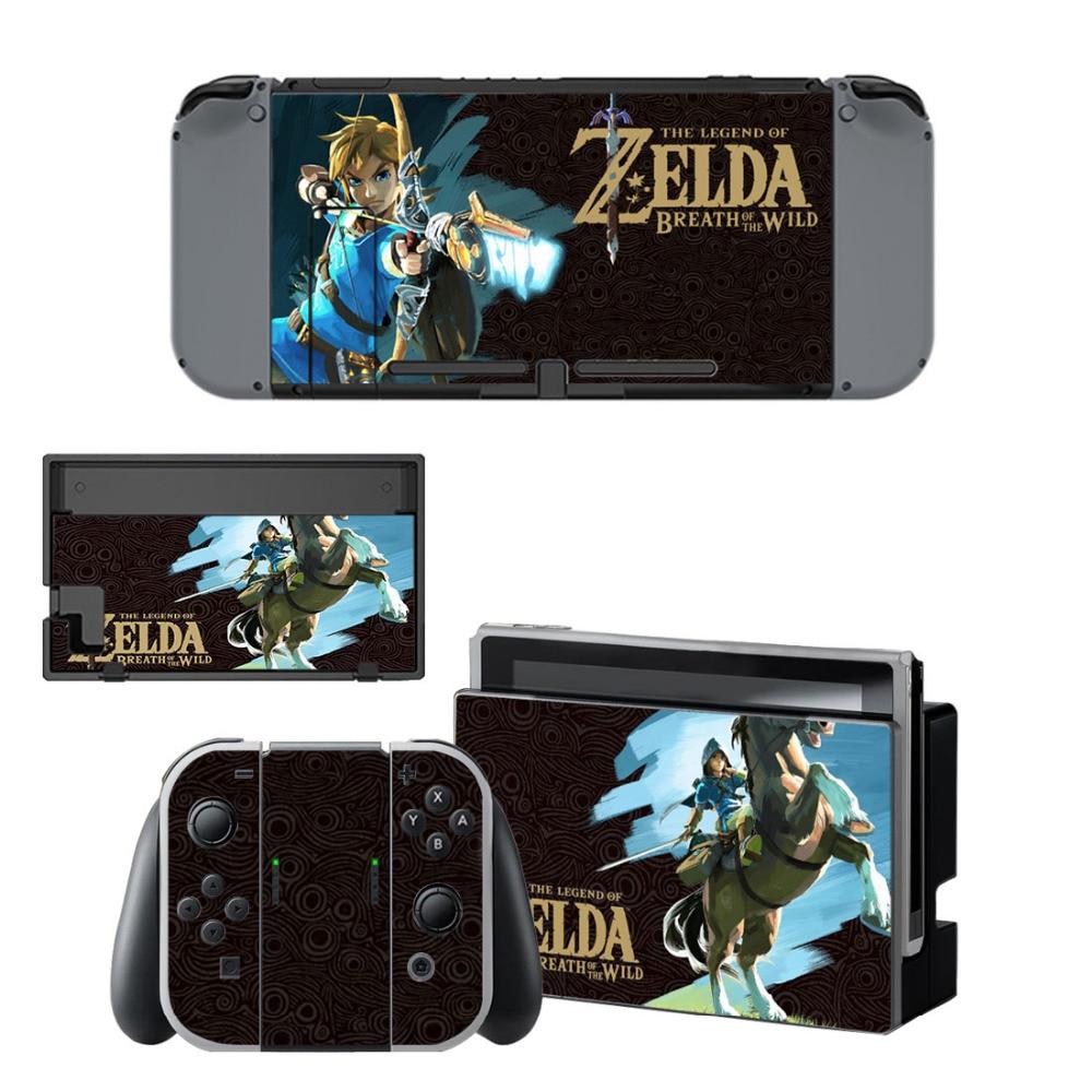 Наклейка с надписью Legend of Zeld Breathing of The Wild Skin для консоли Nintendo Switch и контроллера для наклеек на кожу NS