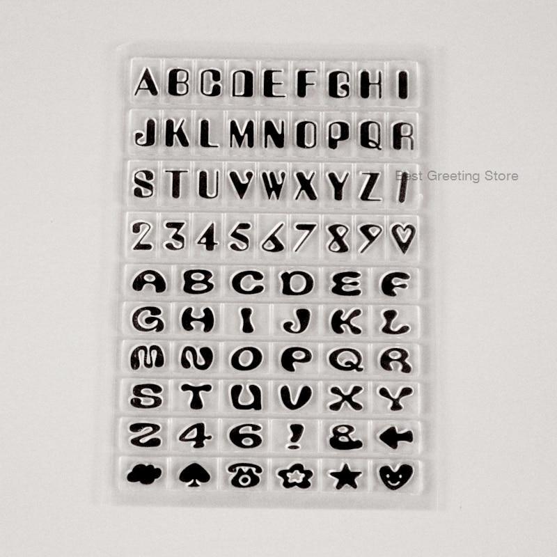 Inglés Font sellos Mini letra de alfabeto sellos para manualidades bala diario tampones para scrapbook Adorno
