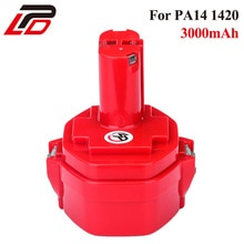 14.4V 3.0Ah Ni-MH 193158-3 Rechargeable Battery for Makita PA14 JR140D 1420 1422 1433 1434 1435F 192699-A 3000mAh