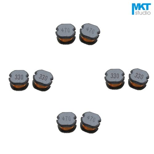 20 piezas SMD 7,8*7*5mm bobinas de choque de virutas cable bobinado Inductor de potencia 1/2. 2/3 3/4 7/6 8/10/15/22/33/47/68/100/150/220/ 330/470/680uH