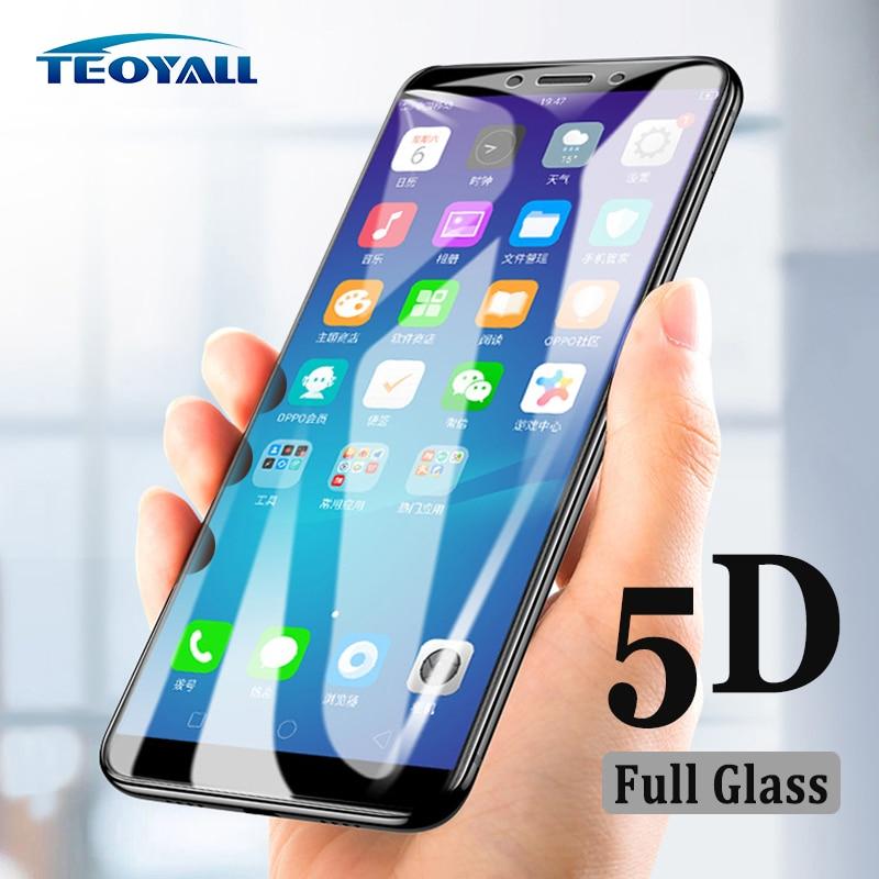 Vidrio TeoYall 5D para oppo A83 A79 A77 A73 A71 A59 protector de pantalla de vidrio templado para oppo A83 A79 película protectora antiexplosión