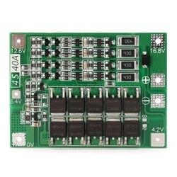 4S 40a 14.8v 16.8v li-ion lítio 18650 bateria bms pcb placa de proteção equilíbrio transporte da gota