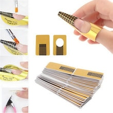 100pcs/set Professional Nail Tools Tips Nail Art Guide Form Acrylic Tip Gel Extension Sticker Nail Polish Curl Form