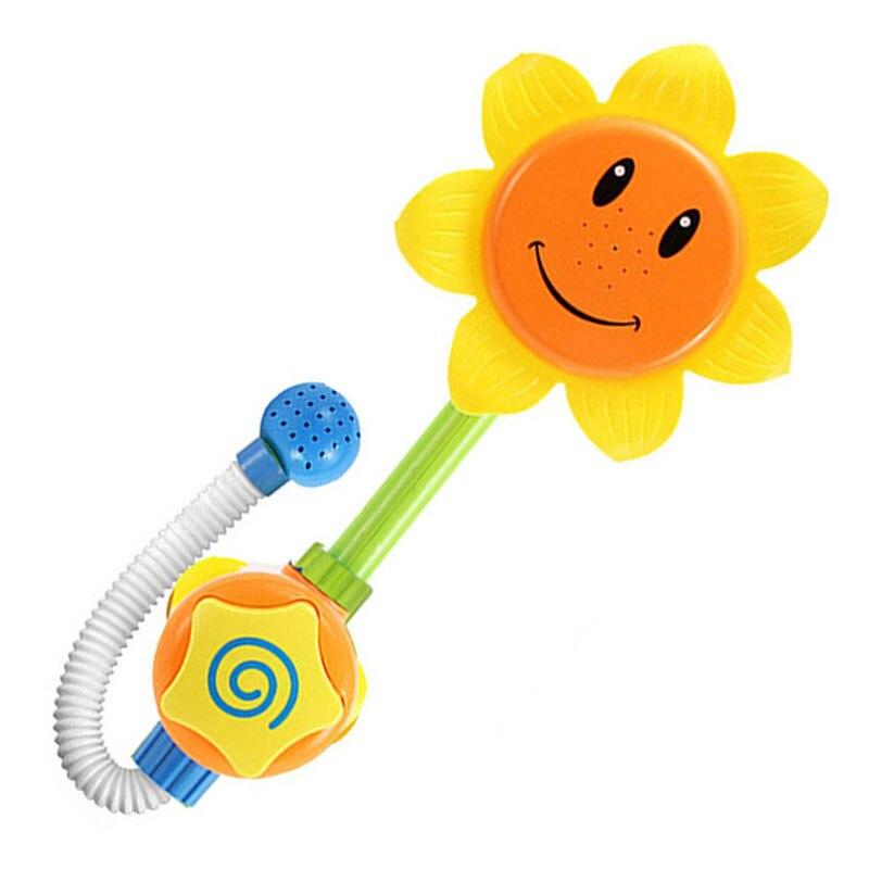 1 Juego de juego de agua divertido para bebé, juguete de baño, bañera, grifo de ducha con forma de girasol, juguetes Agua pulverizada para niños