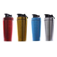 Edelstahl Protein Shaker Flasche Gym Schütteln Wasserkocher Sport Milchshake Mixer Wasser Flasche Whey Protein für Fitness BPA-Freies