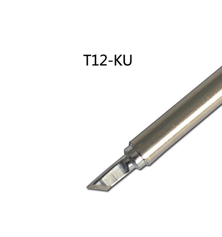gudhep soldering iron tips t12 stm32 soldering tips welding tool replacement for fx 951 rework station t12 k ku kus skus Gudhep STC T12 FX951 Soldering Rework Station FX9501 FM2028 Soldering Iron Handle Replacement Soldering Iron Tips T12-KU