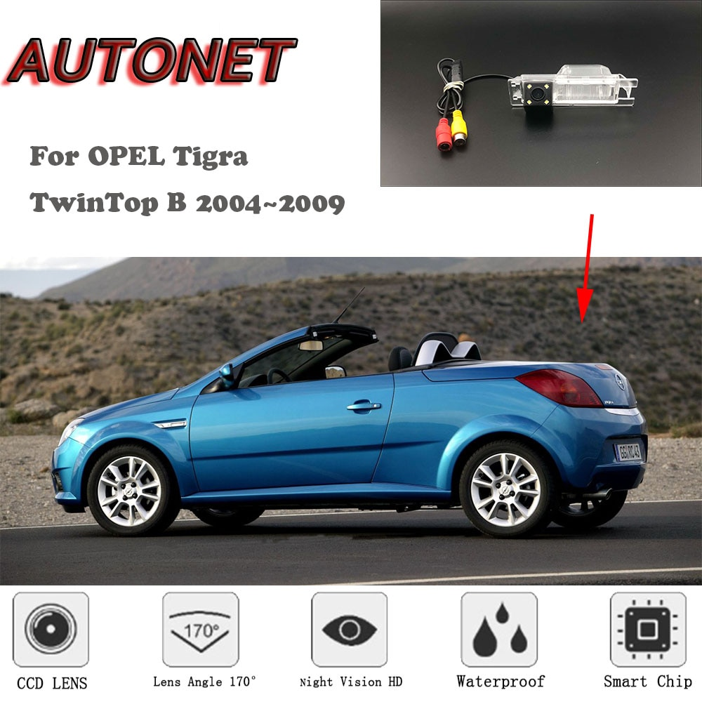 Cámara de visión trasera de respaldo AUTONET para OPEL Tigra TwinTop B 2004 ~ 2009, cámara de visión nocturna HD, cámara de estacionamiento, cámara de matrícula