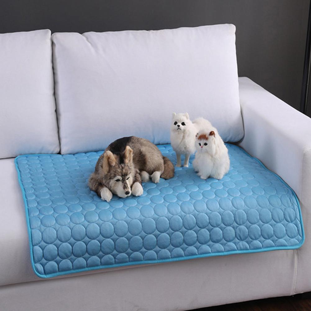 Tapis refroidissants pour chien de compagnie dété   Canapé pour chien de chats, lit pour chien, avec soulagement de la chaleur, tapis de sol, fournitures pour chien, produit pour animal de compagnie