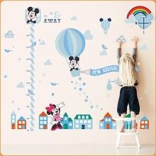 Mickey mouse stickers muraux pour enfants papier peint mur décor à la maison enfants salon chambre décoration accessoires hauteur murale