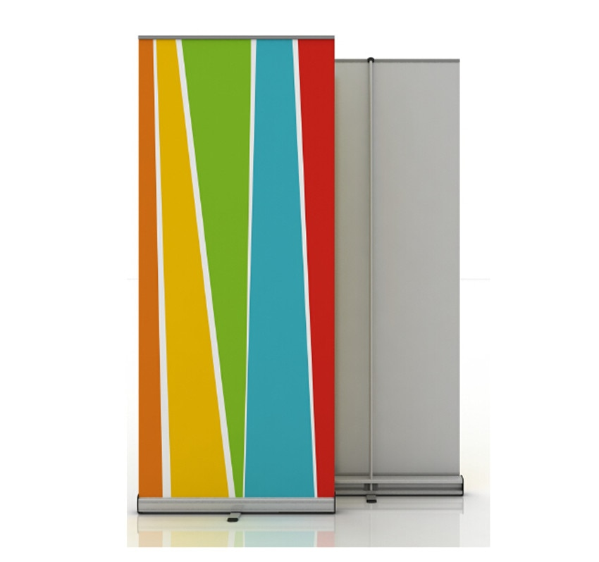 High Quality Aluminium Roll Up Banner Display 80x200cm Retractable Stand For Trade Show Exhibition Without Printing 10pcs