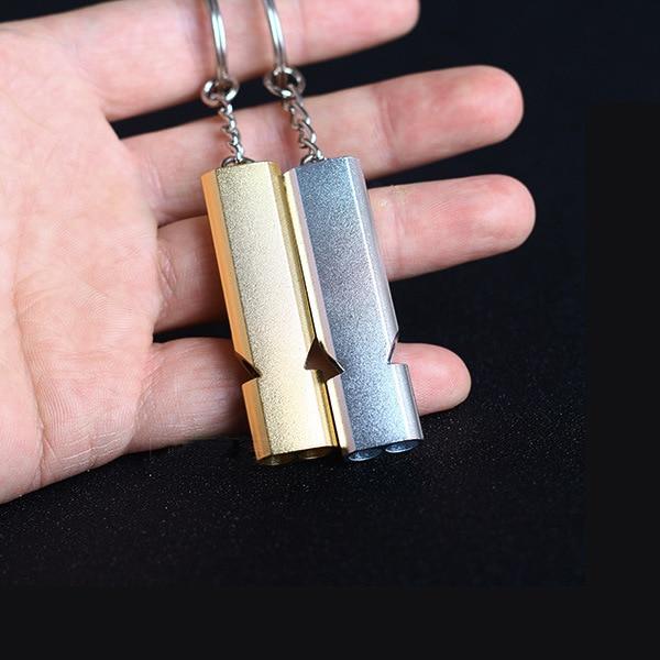 100 шт./лот, двойной трубчатый свисток, высокочастотный инструмент для выживания на открытом воздухе, тренировочный инструмент для собак, дом...