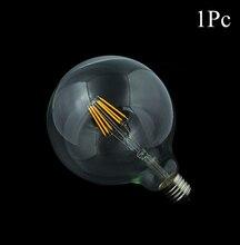1x Dimmable Led Filament Bulb G125 G95 G80 Big light bulb 4W - 10W filament led bulb E27 clear glass indoor lighting lamp AC220V