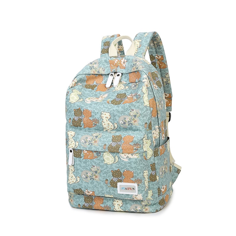 Mochila con impresión única de marca WINNER, mochila Floral de lona para mujer, mochila escolar para niñas, mochila informal