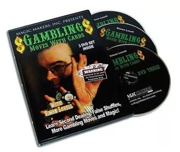Dessin animé de jeu de cartes, avec les cartes de 1 à 3 tours de magie