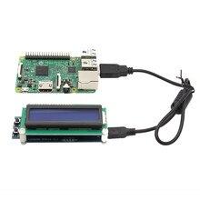Sıcak yeni 1602 RGB lcd ekran ekran USB portu ahududu Pi 3B 2B B + Windows Linux