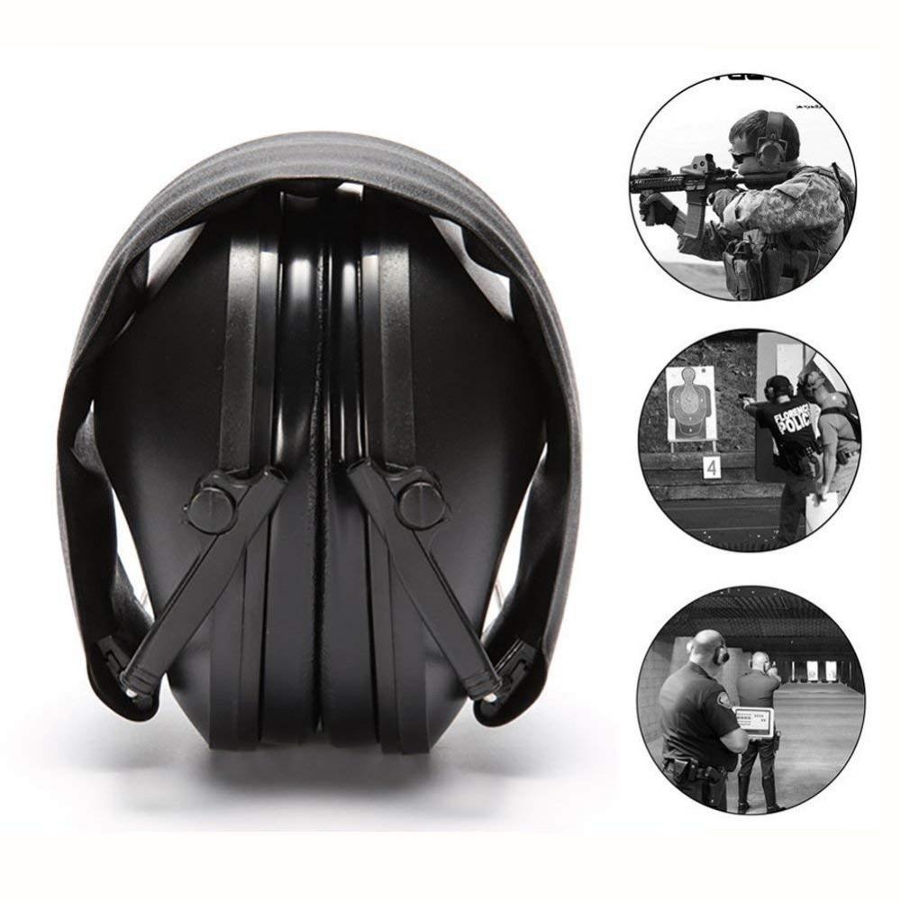 Защита для ушей тактическая съемка наушник Регулируемый складной Анти-шум храп затычки для ушей мягкая шумоподавляющая гарнитура