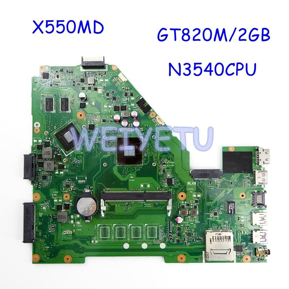 X550MD N3540CPU GT820M/2G اللوحة REV2.0 ل ASUS X550M X550MD X550MJ X552M كمبيوتر محمول اللوحة اختبار موافق
