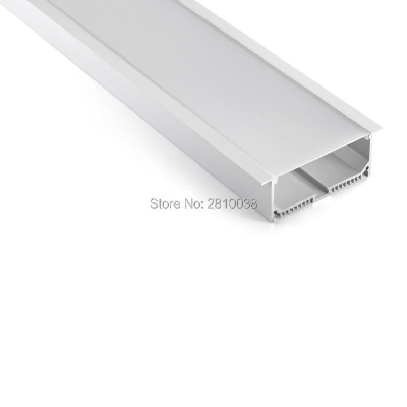 50 X 2M Sets/Lot Linear flange aluminum led profile housing Ultra wide T shape led aluminium profile channel for ceiling lamps