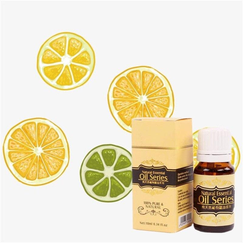 10ml de aceite esencial de limón/lavanda/árbol de té cuidado Natural de la piel hidratante eliminación de acné blanqueamiento masaje SPA aceite de baño