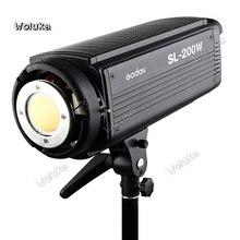 Godox lampa fotograficzna SL200w stałego LED światło słoneczne lampa dla dzieci studio fotografia ślubna studio sprzęt CD50 T03