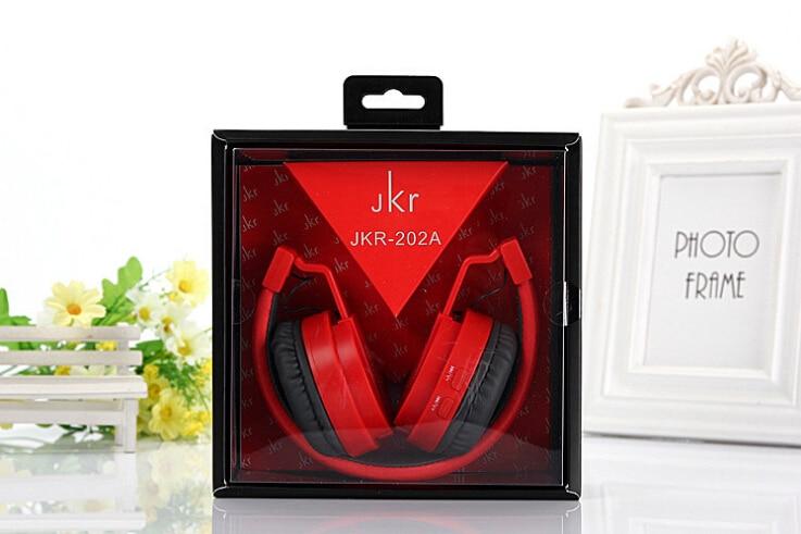 2017 Hot Sale JKR-202a Foldable Wireless Bluetooth Headphone Stereo Music bass Headset With Mic MP3 FM Radio Earphone For iOS An