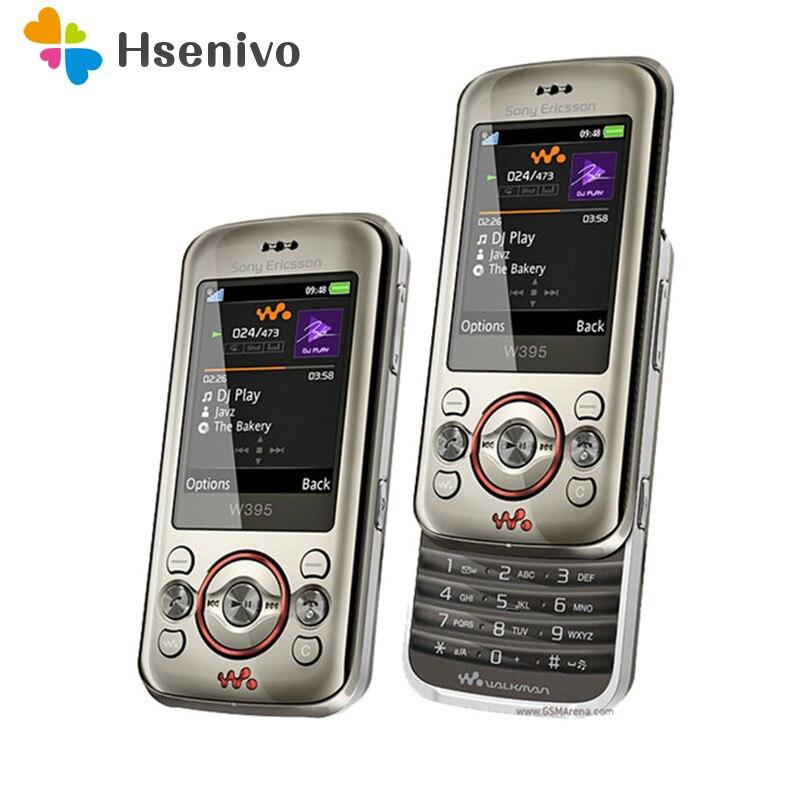 100% Original desbloqueado Sony Ericsson W395 teléfono móvil 2MP Bluetooth FM W395 teléfono móvil envío gratis