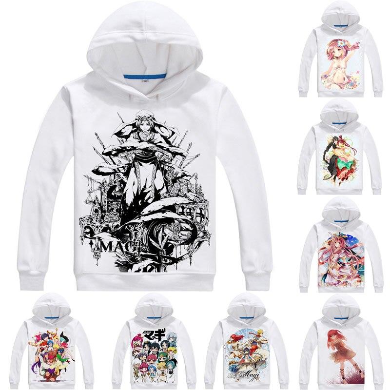 Sudaderas con capucha Coolprint de Anime Magi The Labyrinth of Magic 3D, sudaderas con capucha de manga larga de estilo múltiple, sudaderas de Cosplay de Aladdin Sinbad