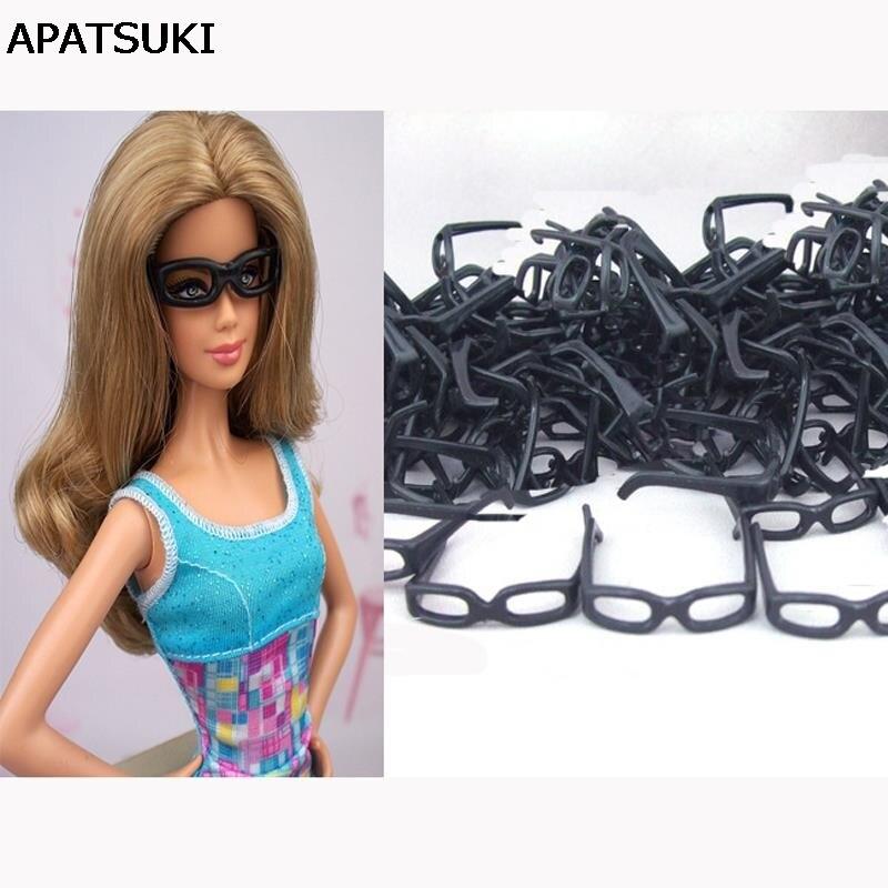 10 unids/set de Mini gafas de plástico sin lente para muñeca de niña y novio 1/6 Ken muñecas gafas de juguete para Casa de muñecas Barbie regalo de Navidad