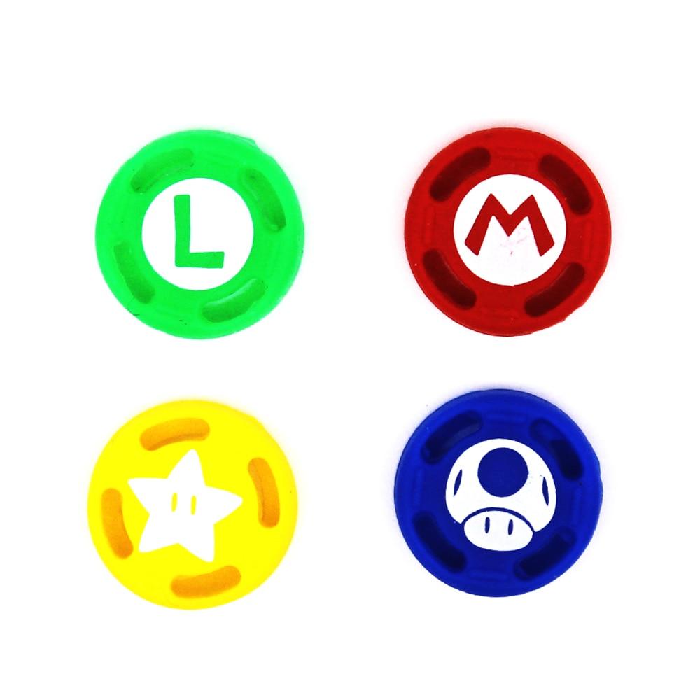 1 juego temático de silicona, tapas de agarre analógicas para el pulgar, para el controlador de Nintendo Switch NS, palos de piel para la cubierta de Joy Con