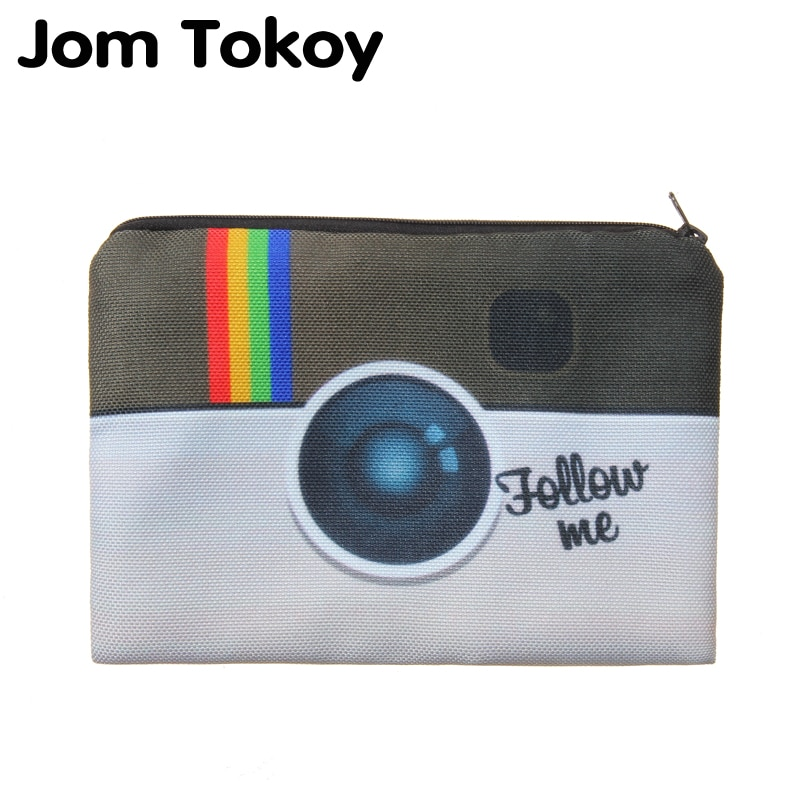 Jom Tokoy-bolsa neceser con estampado 3D para mujer, bolsa neceser de viaje...
