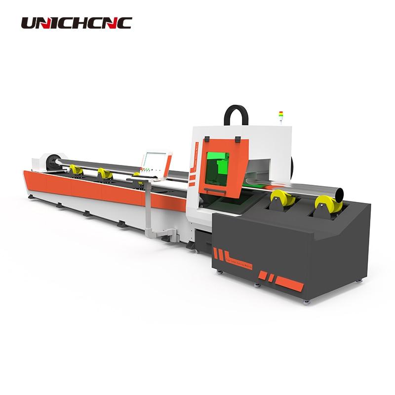Suministro de fábrica máquina cortadora láser de fibra 1500w para corte de tubos de metal