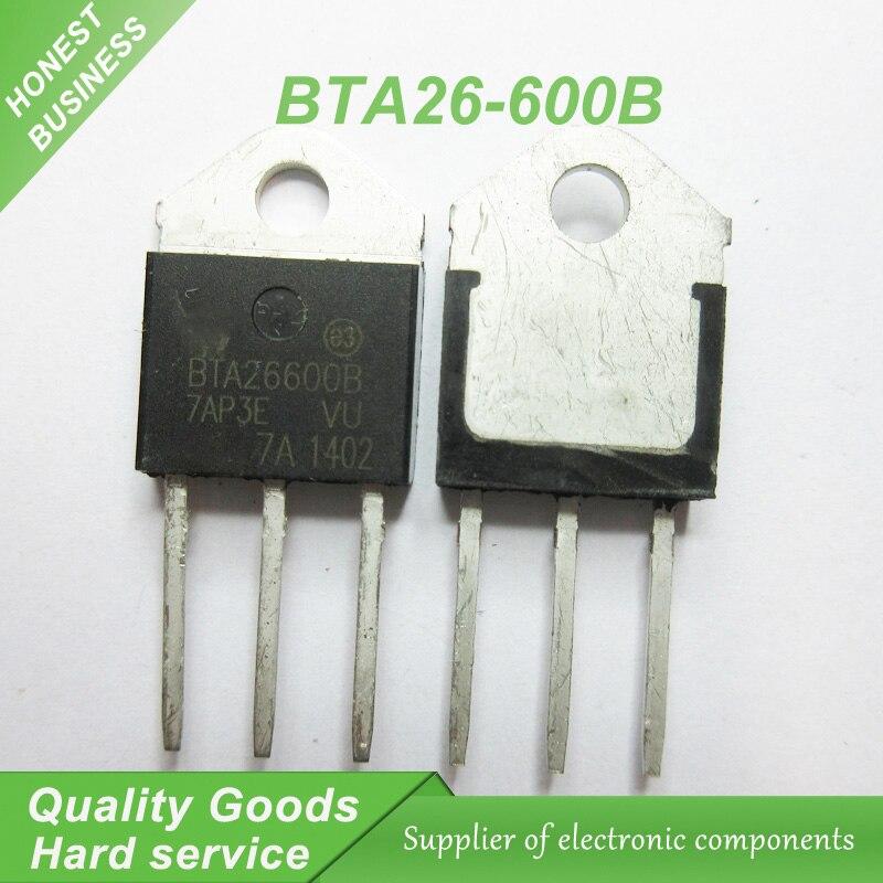 10 piezas BTA26-600B BTA26600B BTA26-600 BTA26600 TO-3P Triacs 25 Amp 600 Volt original nuevo