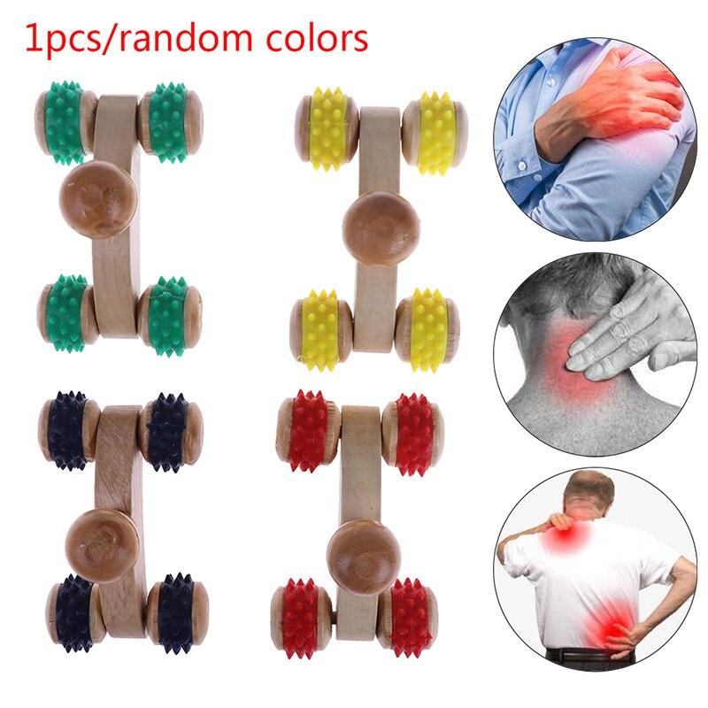 4style  Wooden Fat Control Roller Massager Cellulite Leg Abdomen Neck Buttocks Fast Anti Cellulite Face Lift Tools