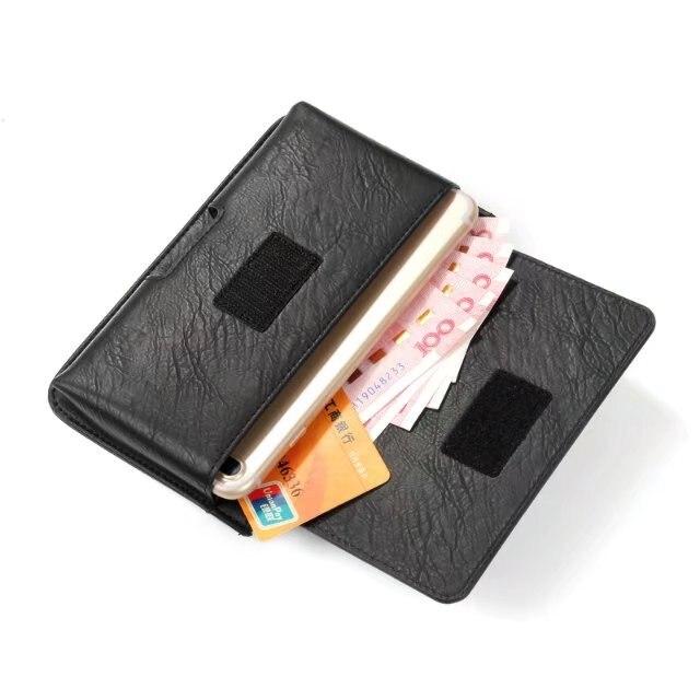 Cinturón multifuncional para teléfono móvil Blackview R6 lite, funda de tres bolsillos con cremallera para Blackview P2 lite
