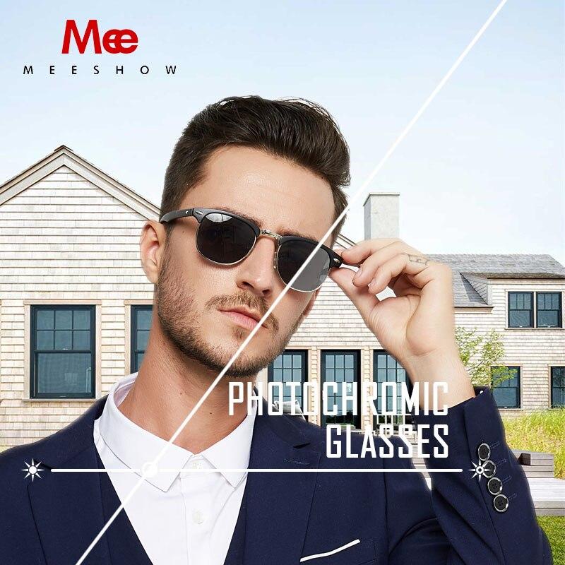 MEESHOW gafas de lectura de las mujeres de los hombres fotocromáticos gafas de sol gafas de lectura eyeglases UV400 844 + 1,0 + 0,5