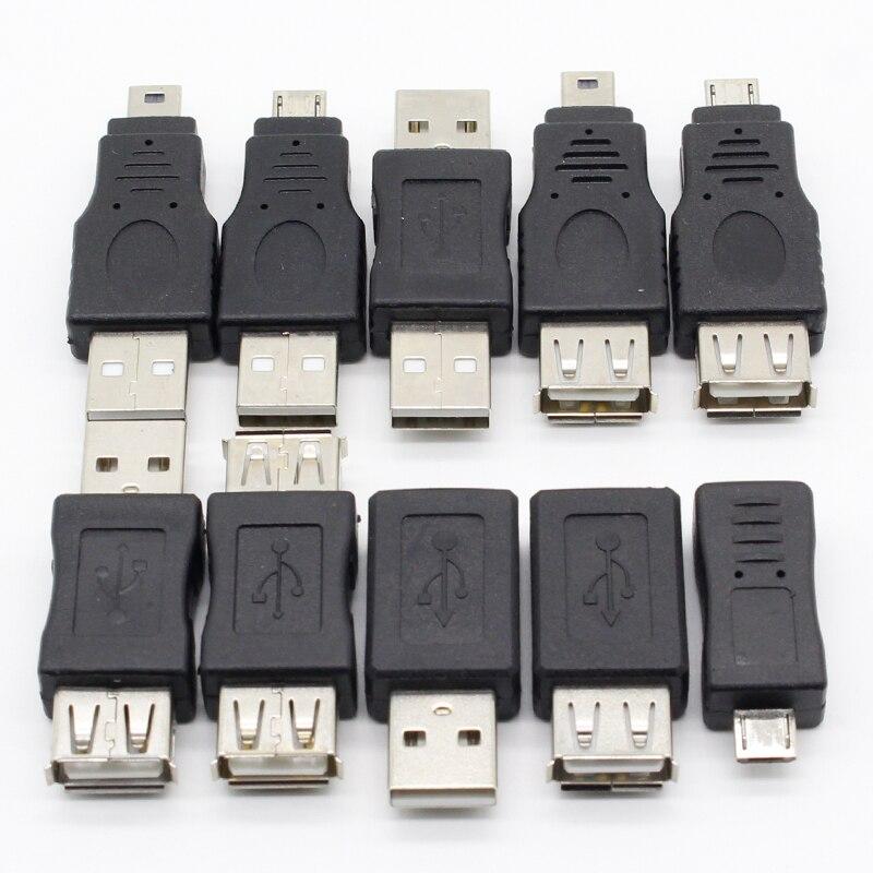 10 шт. OTG 5pin F/M мини-адаптер конвертер USB папа-мама микро USB адаптер USB гаджеты