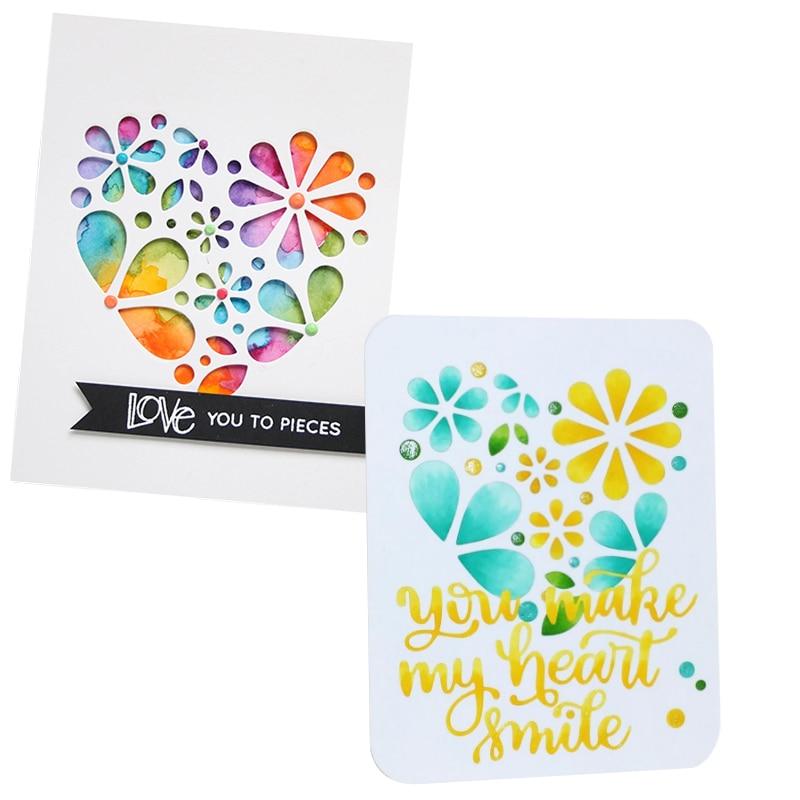 Flower Floral Love Heart Decor Card 2018 new Metal Cutting Dies Die cutter Stencil DIY Scrapbook Paper Photo Craft Template Dies