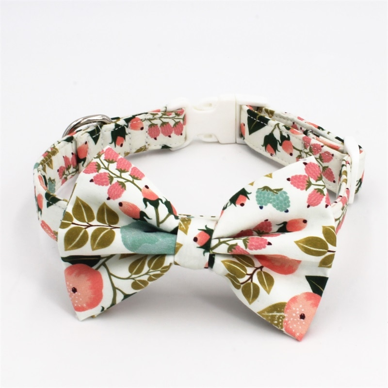 Perro collar con lazo de corbata de plomo para tamaño 5 a elegir mejor boda collar de perro, regalo para su mascota