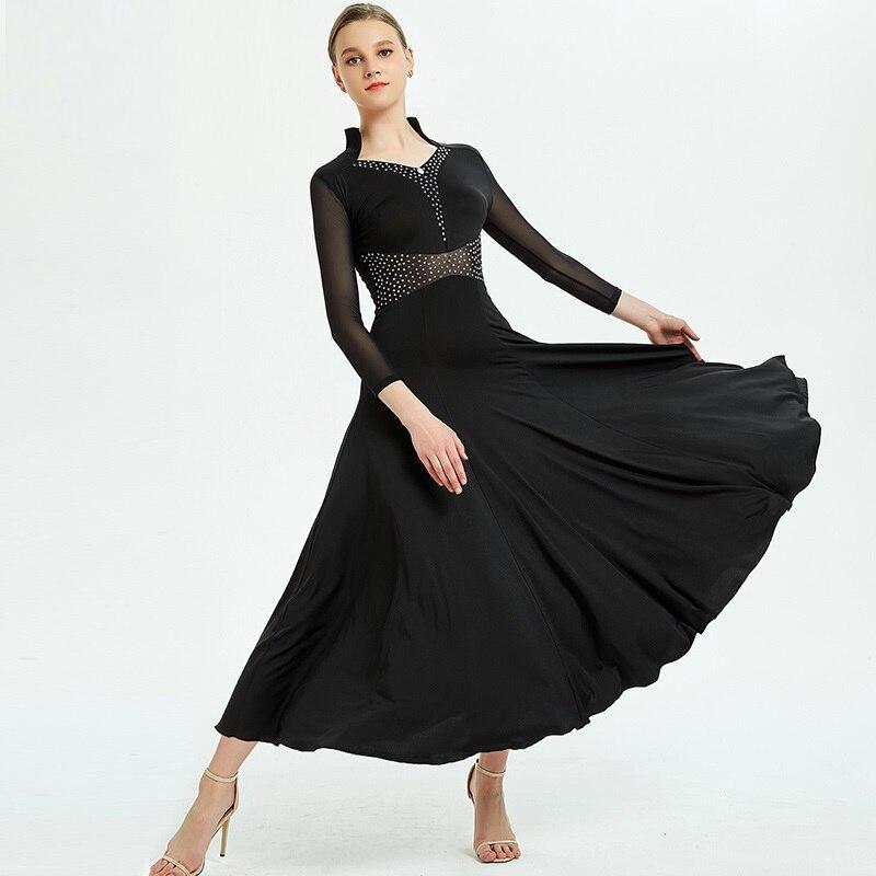 Vestidos de salón tango estilo flamenco vestido ropa de baile de salón vestido de baile estándar para Ropa de baile mujer traje de baile swing