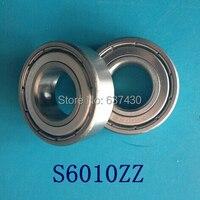 5pcs S6010ZZ stainless steel 440C deep groove ball bearing 50*80*16 mm