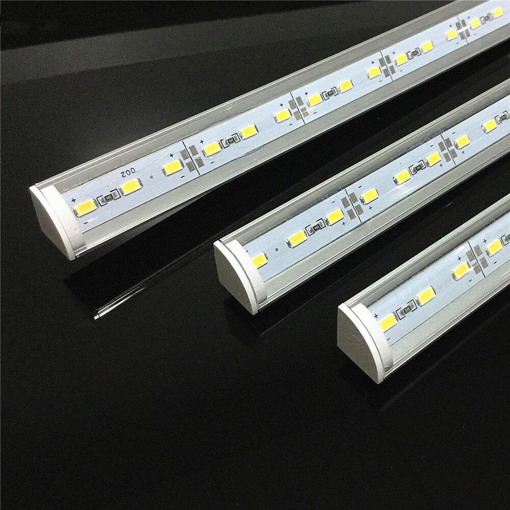 5 uds DC12V Esquina de pared LED barra de luz 5730 36 50CM forma de V perfil de aluminio 5630 tira rígida lámpara de gabinete