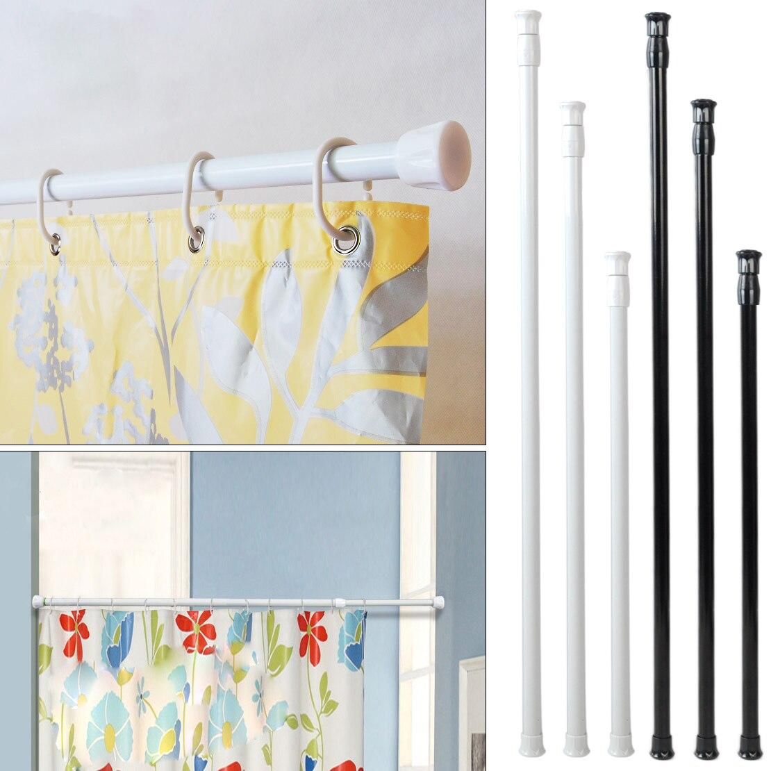 Extensible ajustable 40-70cm resorte cargado Barra de tensión poste colgador telescópico cortina ducha baño ventana productos