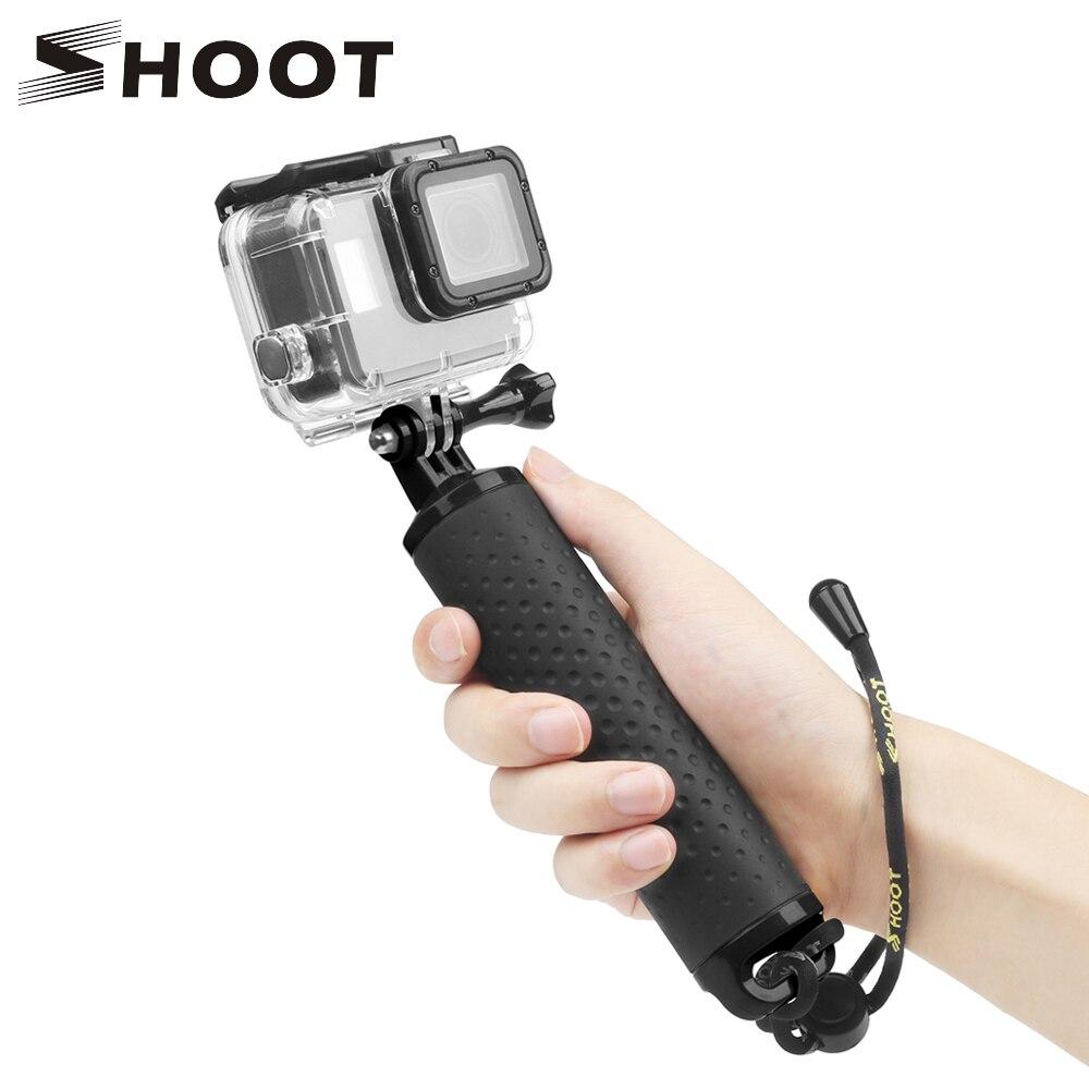 Водонепроницаемый плавающий ручной держатель SHOOT для Go pro Hero 8 7 5 Black Sjcam Sj4000 M10 Xiaomi Yi 4K Eken H9 Go pro Hero 7 6 5