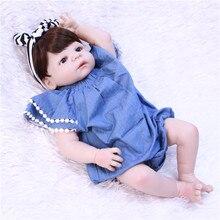 DollMai 55 سنتيمتر كامل سيليكون الجسم تولد من جديد الطفل دمية لعبة مثل الحقيقي 22 بوصة الوليد فتاة الأميرة بيبي دمية تولد من جديد يستحم اللعب