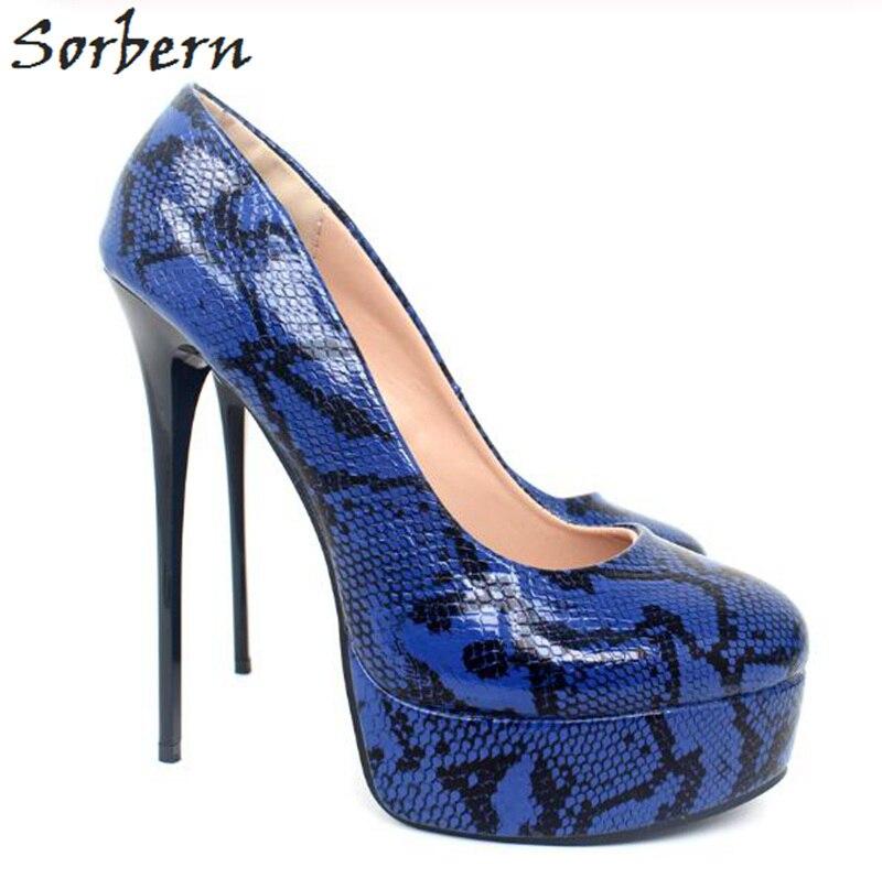Sorbern Orange High Heels Women'S Shoes Size 9.5 Stilettos Shoes For Women Peep Toe Women Pump Shoe Slip On Platform Heels