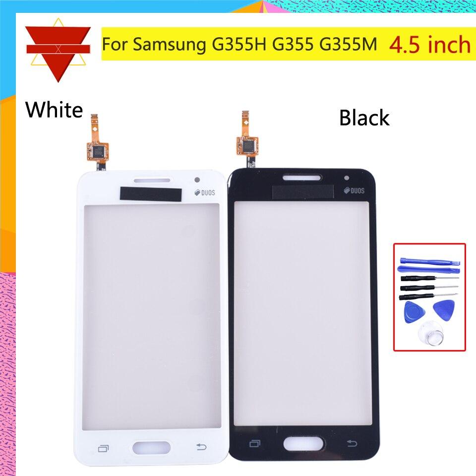 Panel digitalizador frontal de 4,5 pulgadas para Samsung Galaxy Core 2 II G355 G355H Core2 SM-G355H pantalla táctil Sensor LCD pantalla cubierta de cristal