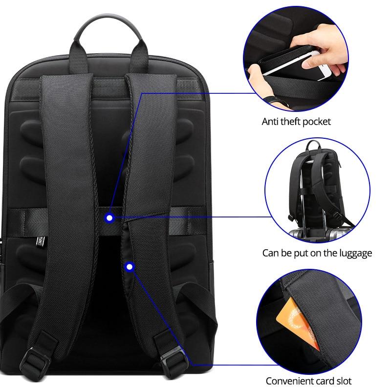 Ransel komputer riba ramping 15.6 inci pejabat kerja beg perniagaan - Beg galas - Foto 5