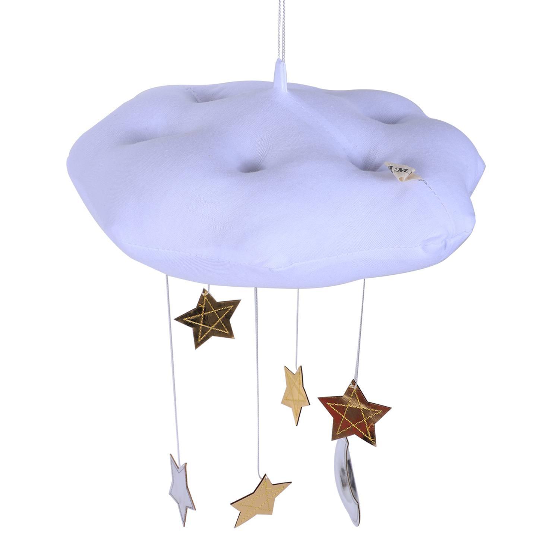 Precioso bebé móvil de algodón luna y estrella tienda de pared colgante Decoración Juguetes foto accesorios niños dormitorio Decoración